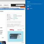 Teilen-Knopf in Microsoft Edge: Webseiten und Artikel über E-Mail verschicken.