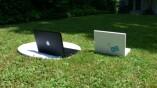 Gut erkennbar: Das iBook ist höher als das Macbook