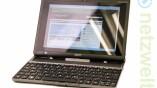Mit angedockter Tastatur fast ein Netbook.