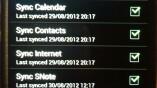 Synchronisiert werden können Kalendereinträge,...
