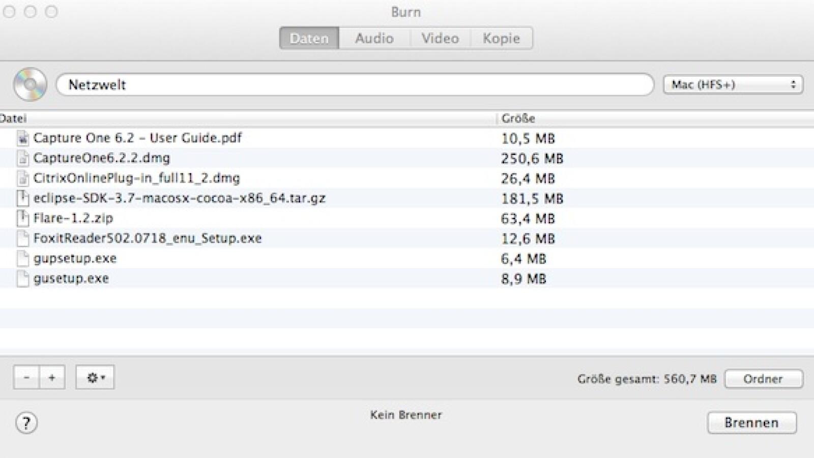 Kostenloses Brennprogramm Mac