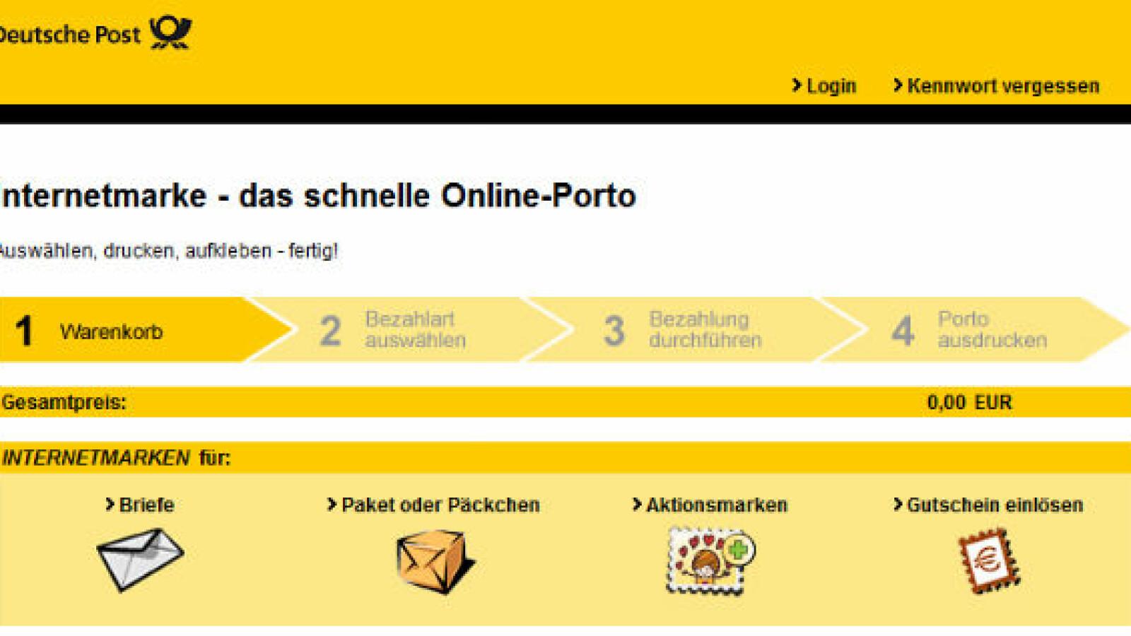 Anleitung Briefe Und Pakete Frankieren Mit Der Internetmarke Netzwelt