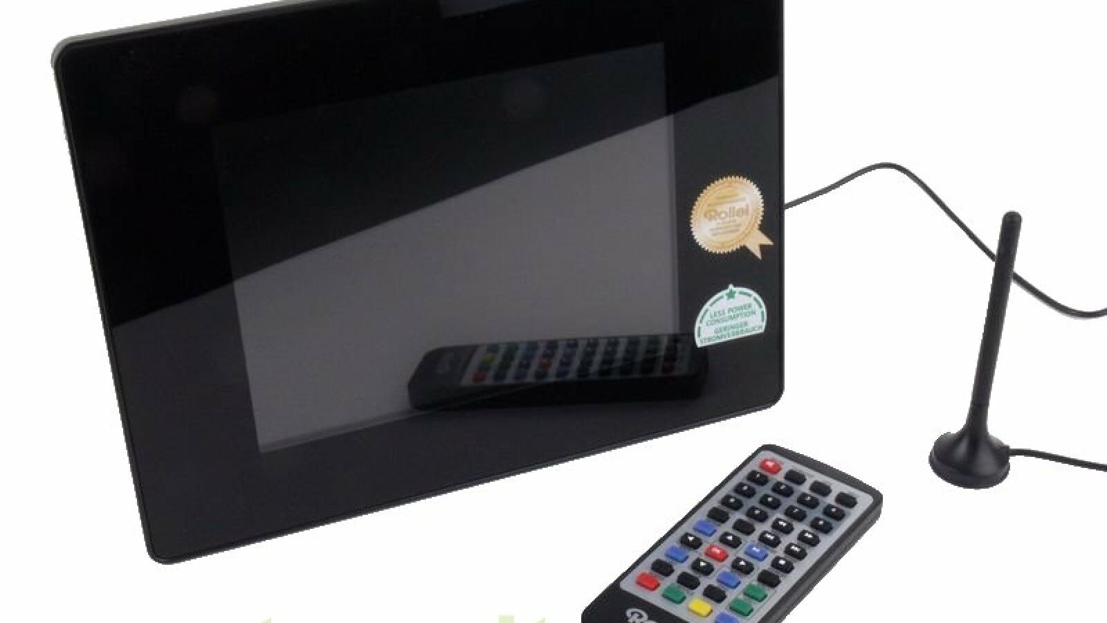 rollei df8 dvb t im test digitaler bilderrahmen und mini fernseher netzwelt. Black Bedroom Furniture Sets. Home Design Ideas