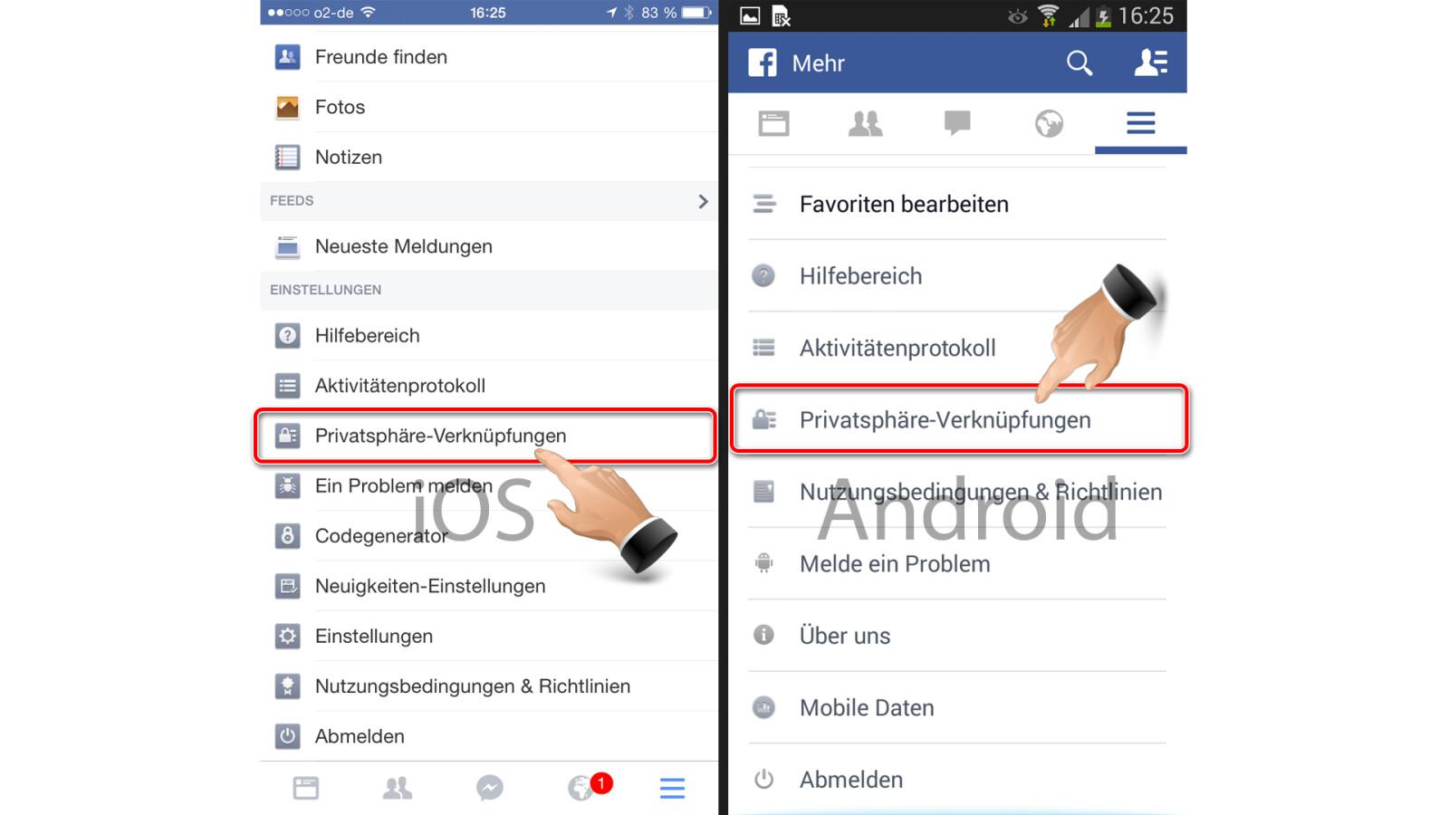 Facebook Verknüpfungen Löschen