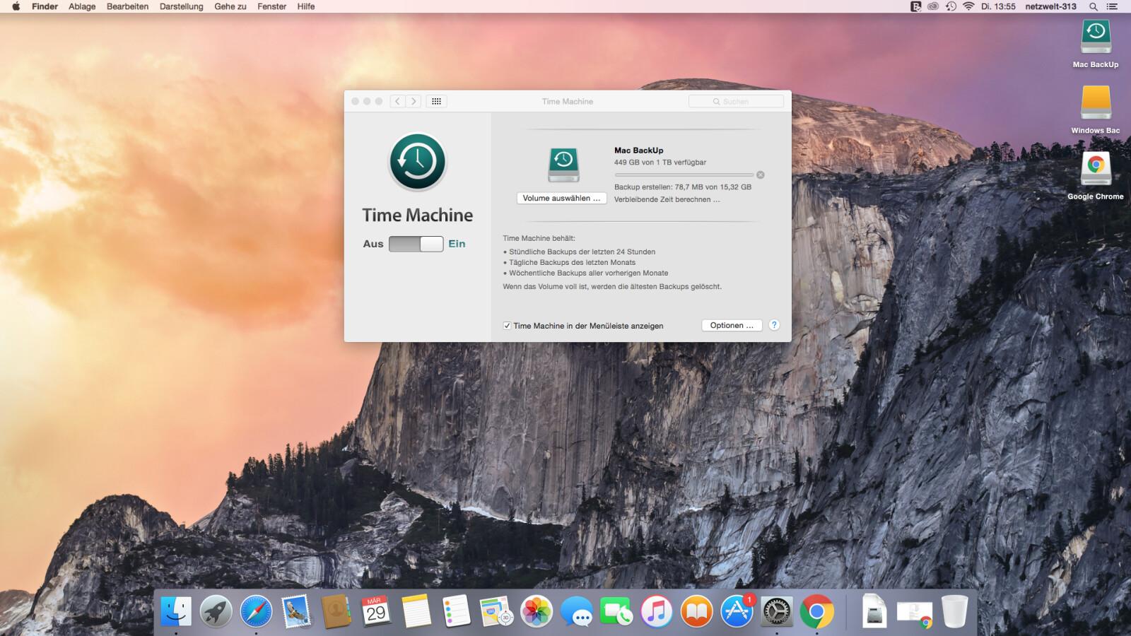 time machine backup vorbereiten dauert ewig