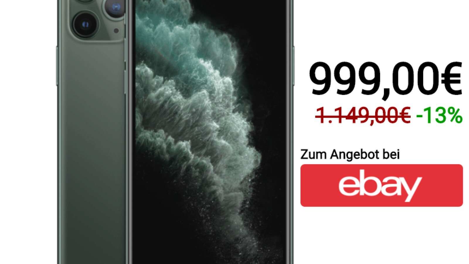 Apple Iphone 11 Pro Zum Cyber Monday Bei Ebay Als Mega