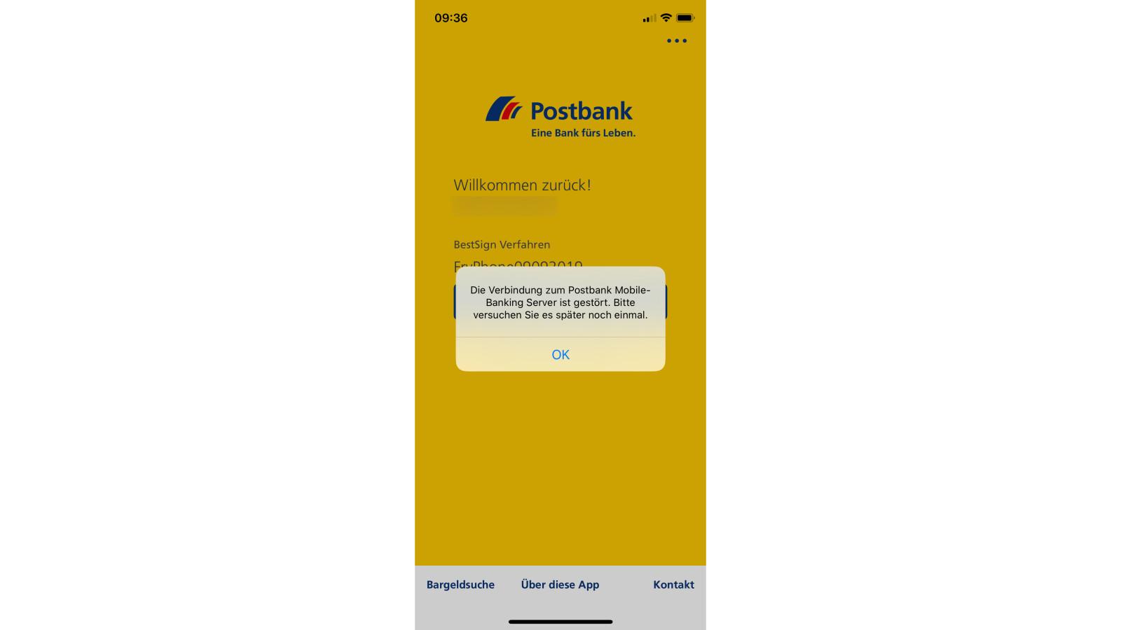 postbank störungen