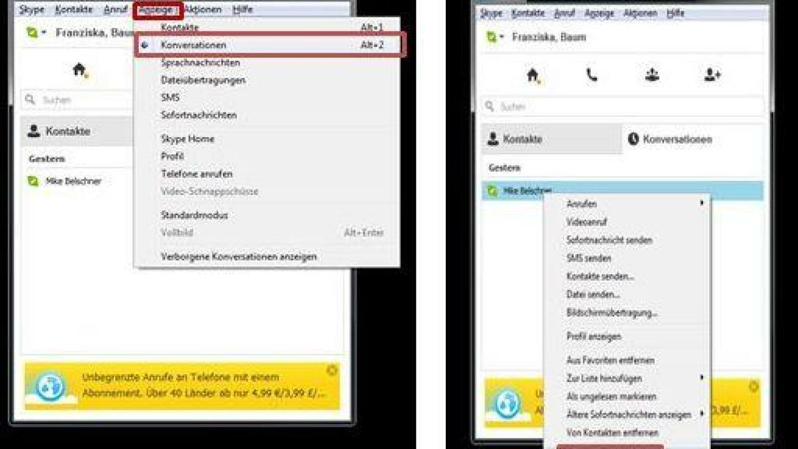 Skype: So löschen Sie Chat-Protokolle | NETZWELT