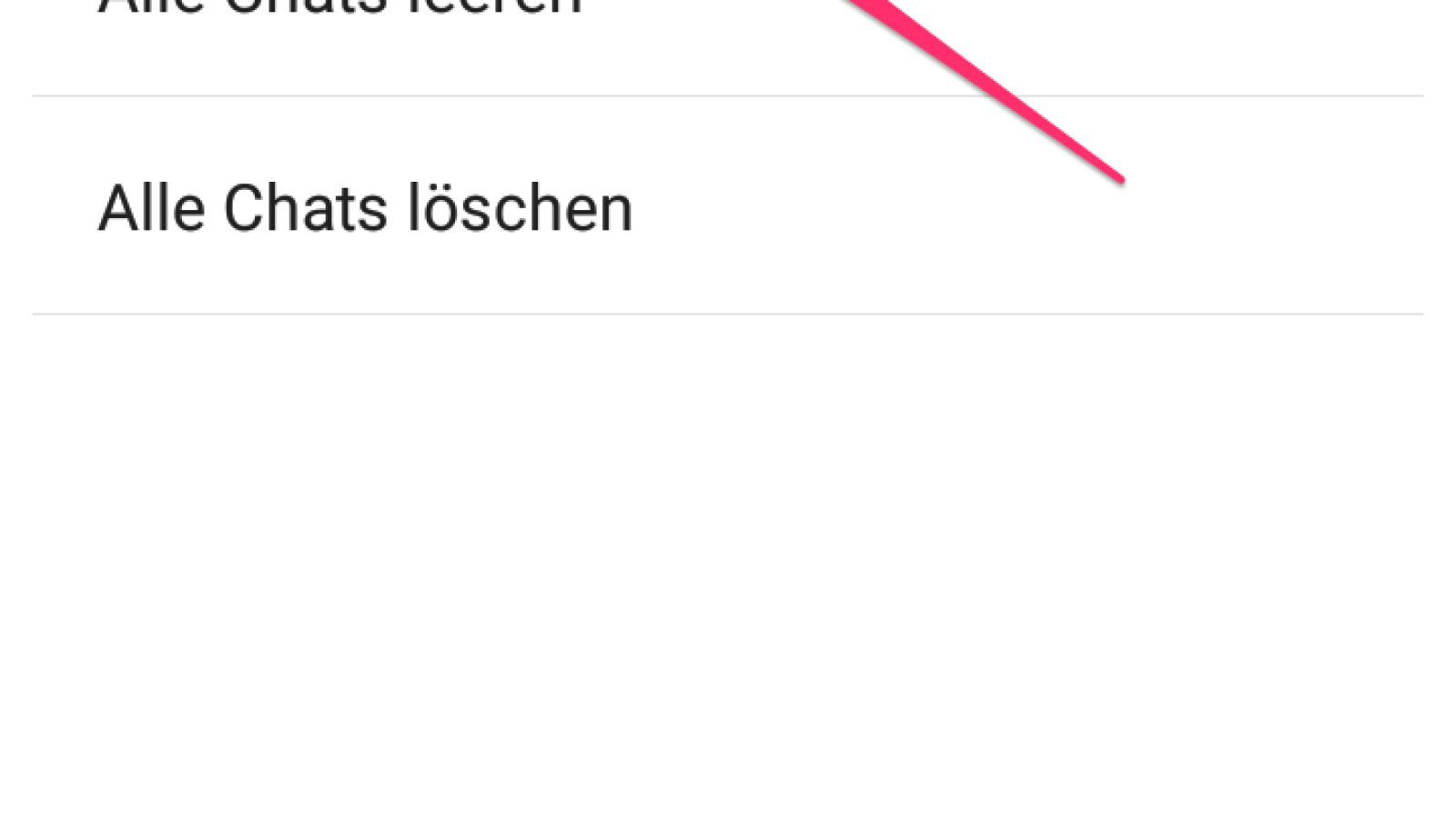 Android chats löschen whatsapp archivierte So stellen