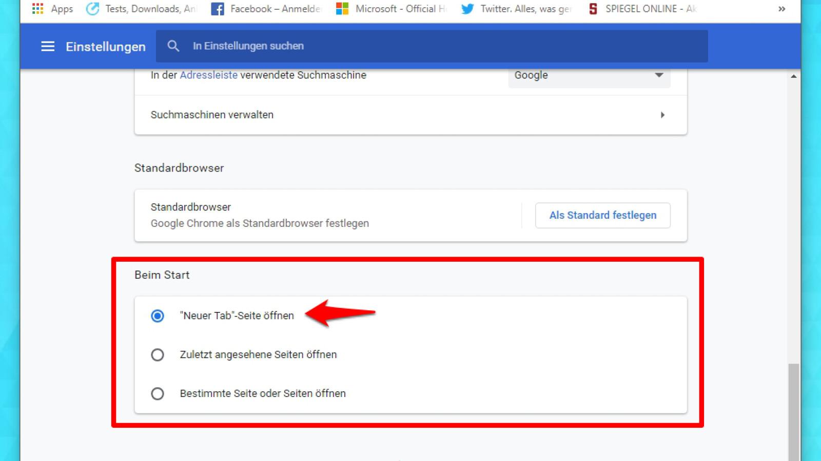 Google Chrome Startseite ändern   NETZWELT