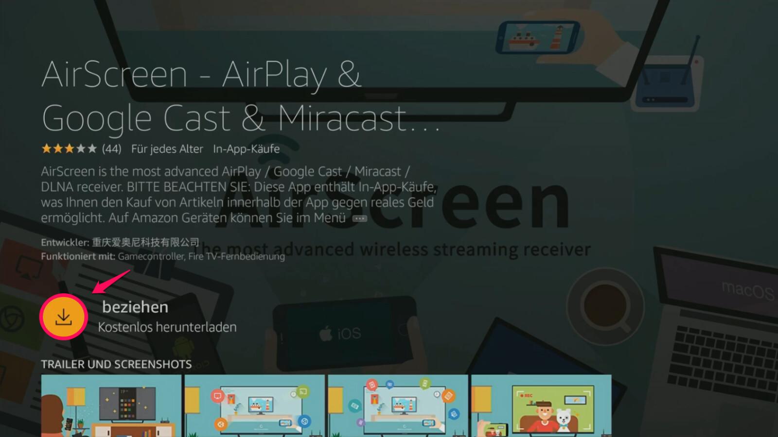 Amazon Fire TV Stick: So sendet ihr Inhalte via AirPlay an den