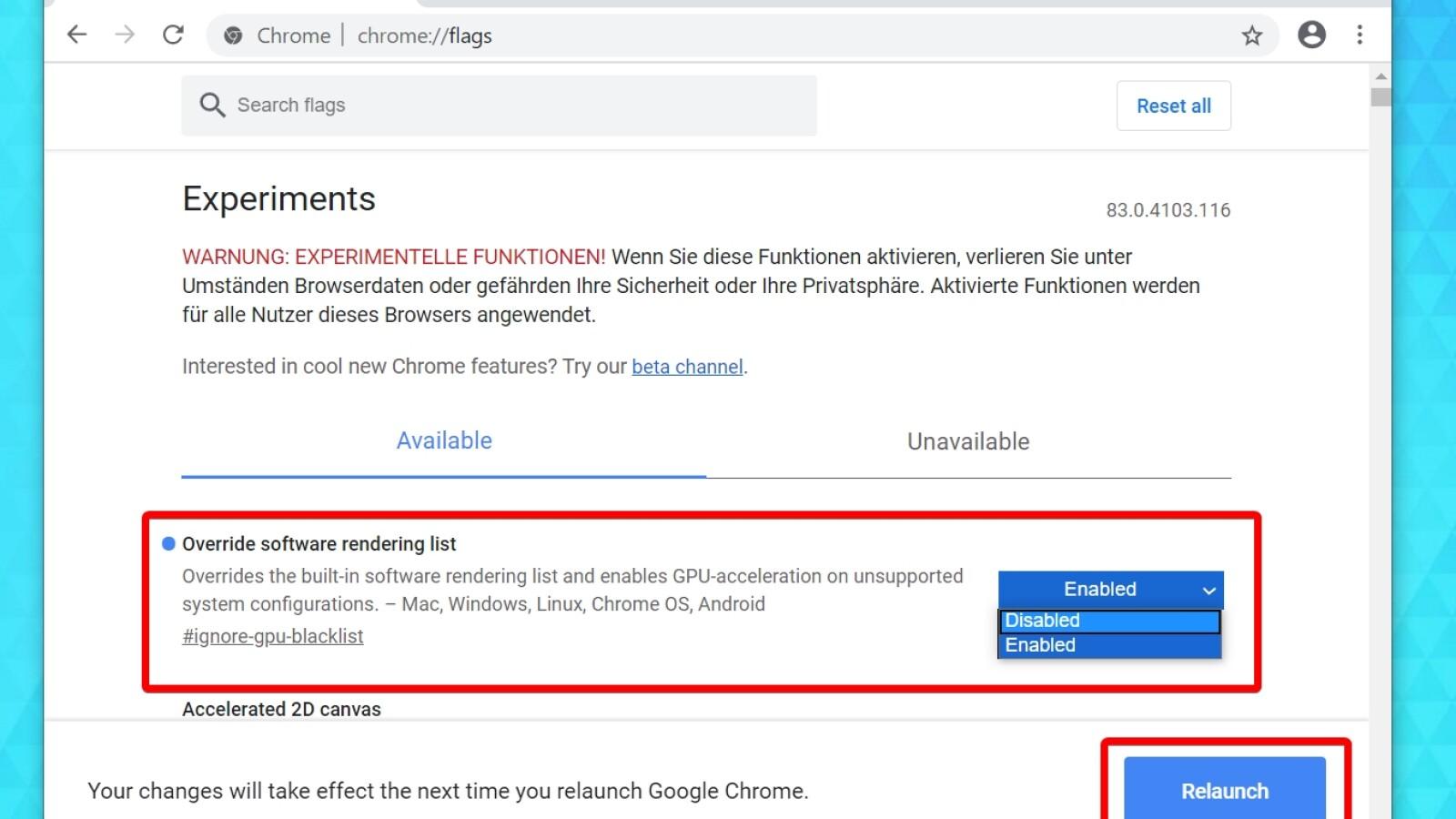 Chrome Flags So nutzt ihr die versteckten Chrome Einstellungen ...