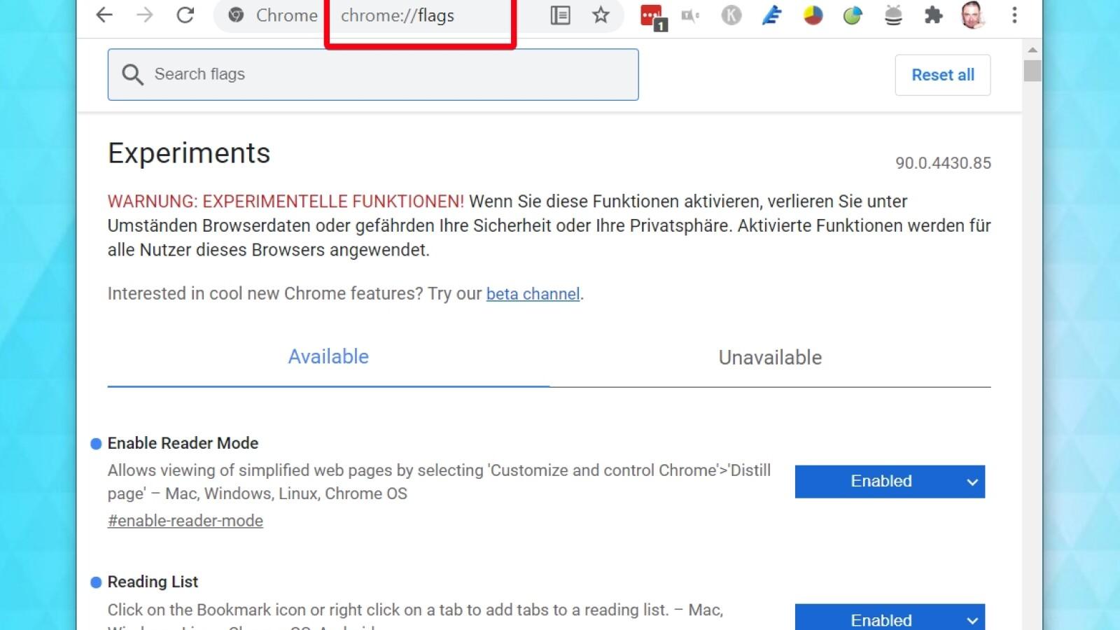 Google Chrome So nutzt ihr die Leseliste   NETZWELT