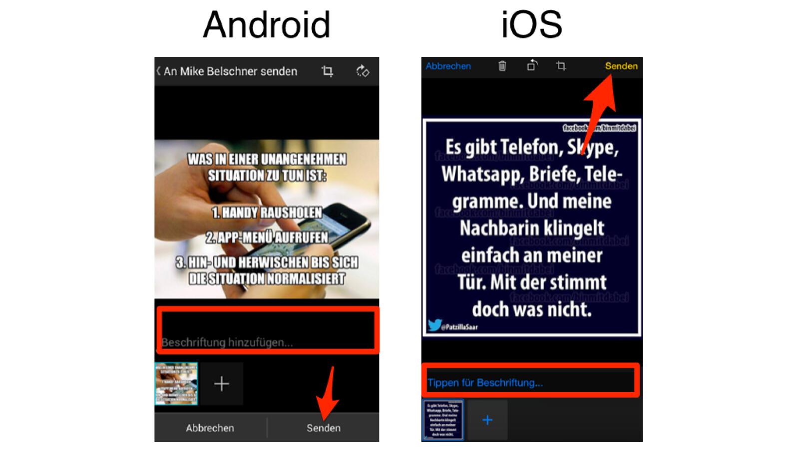 Bilder von Webseiten per WhatsApp versenden (Android/iOS