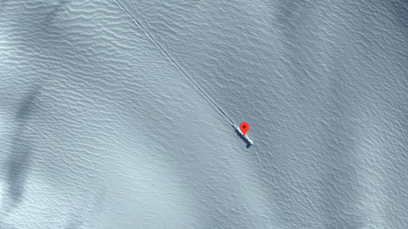 Google Maps: Mysteriöse Schneespur sorgt für Spekulationen - NETZWELT