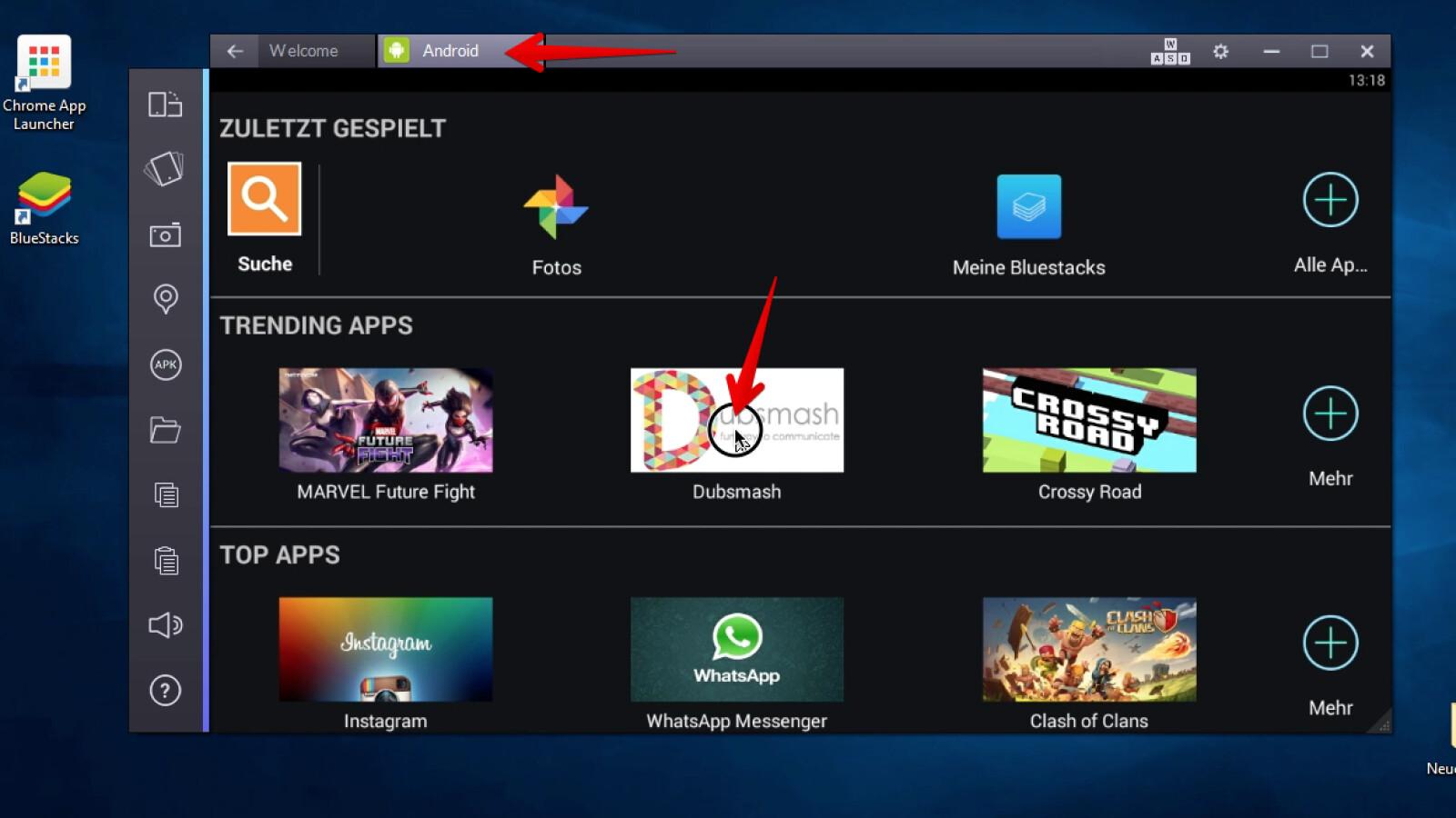 BlueStacks - Android-Apps herunterladen, installieren und