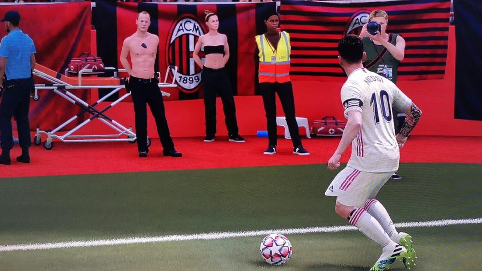 Nackt in FIFA 21: Kurioser Fehler zieht das Stadionpersonal aus