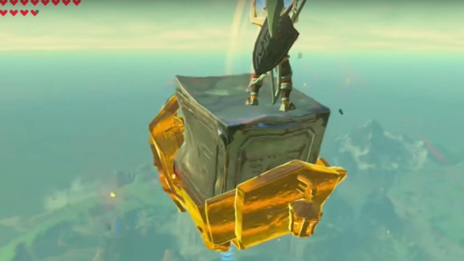 Zelda Krog Karte.Zelda Breath Of The Wild Fantastischer Ausblick Spieler Fliegt