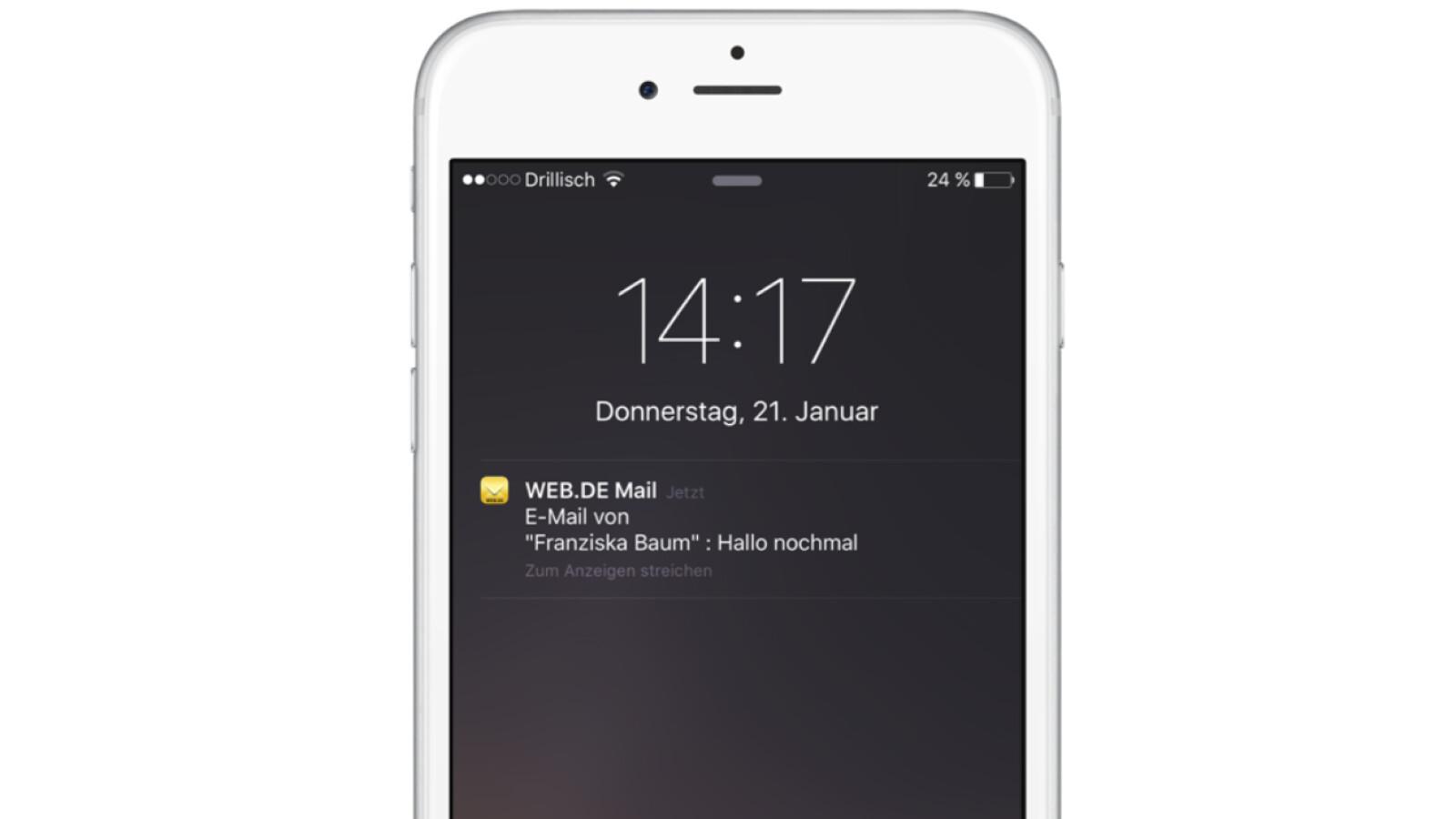 iPhone: web.de-Adresse auf dem Apple-Smartphone einrichten  NETZWELT