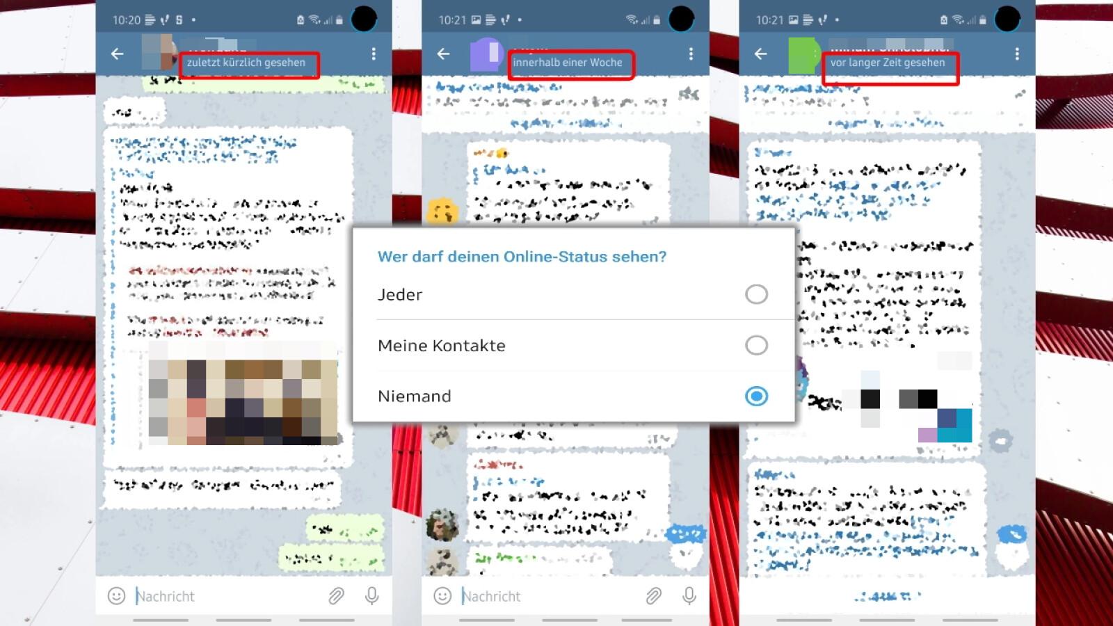 Messenger Zuletzt Online