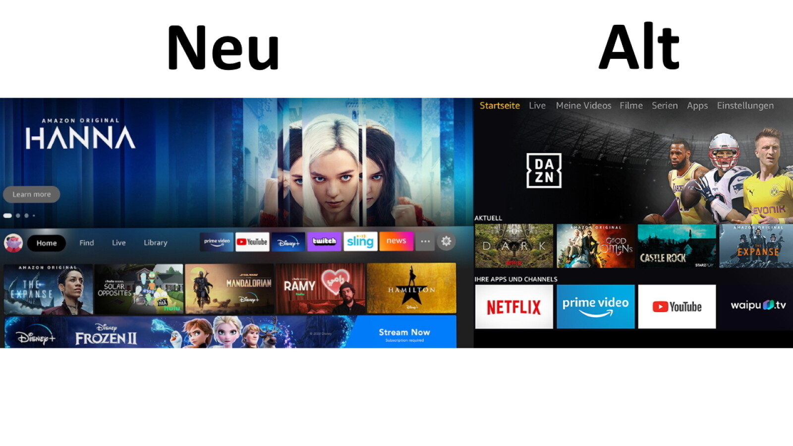 Neue Fire TV Stick Oberfläche: Das hat Amazon geändert - NETZWELT