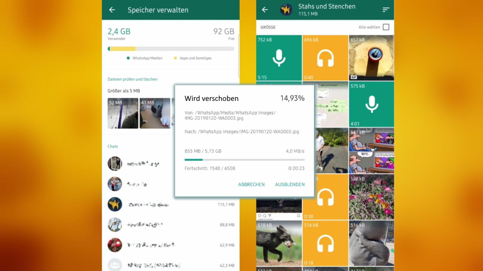 WhatsApp auf SD-Karte verschieben - So geht´s - NETZWELT