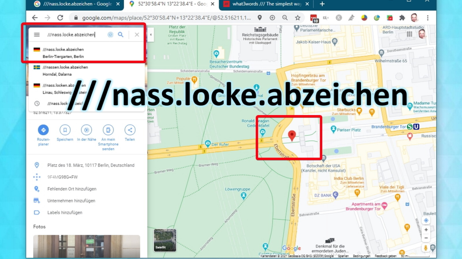 What3Words mit Google Maps nutzen: So geht´s - NETZWELT
