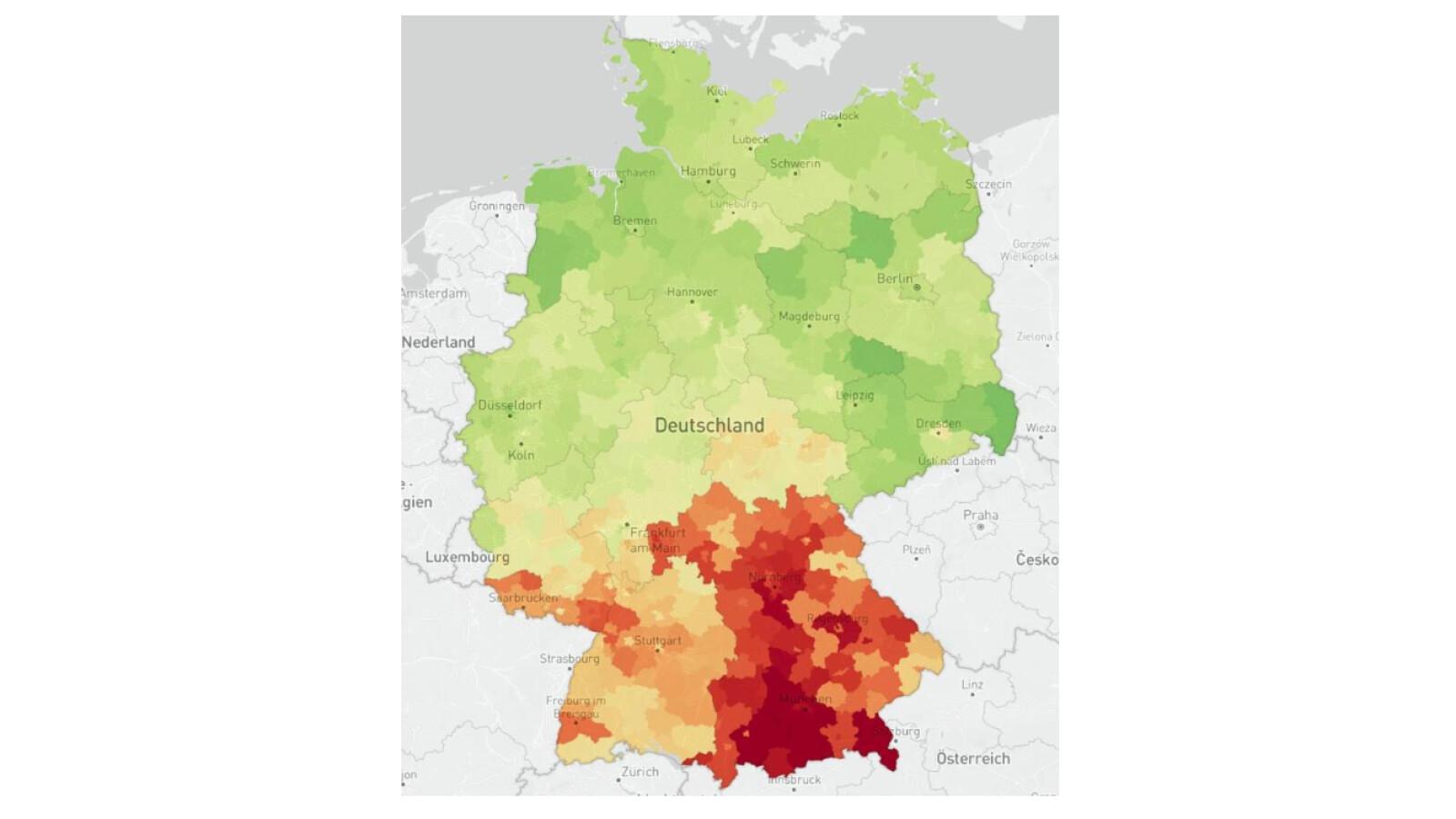 Corona-Karte: Mobilität in Deutschland steigt wieder