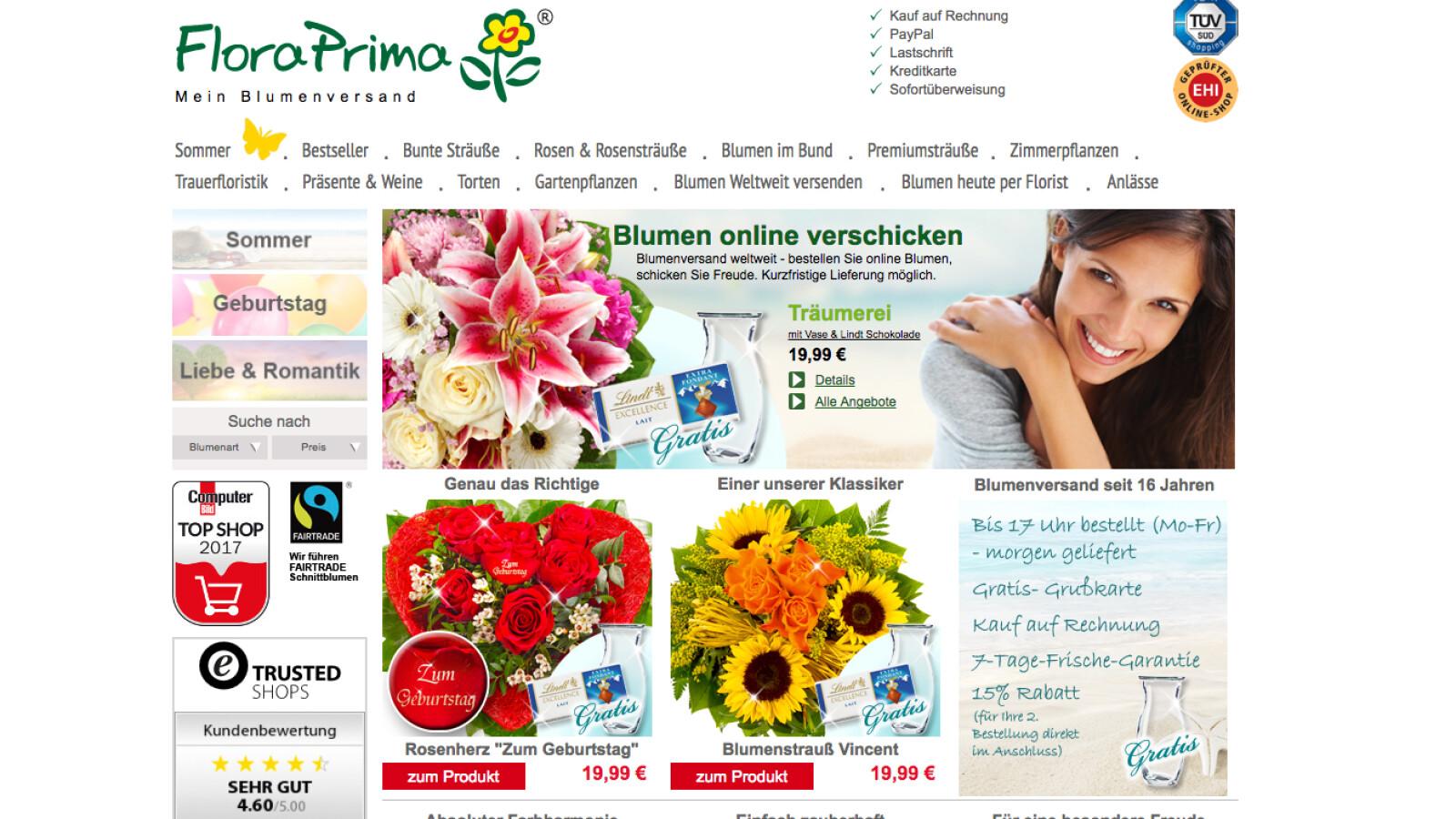 Floraprima Im Test Blumengrüße Von Kanada Bis Neuseeland Netzwelt