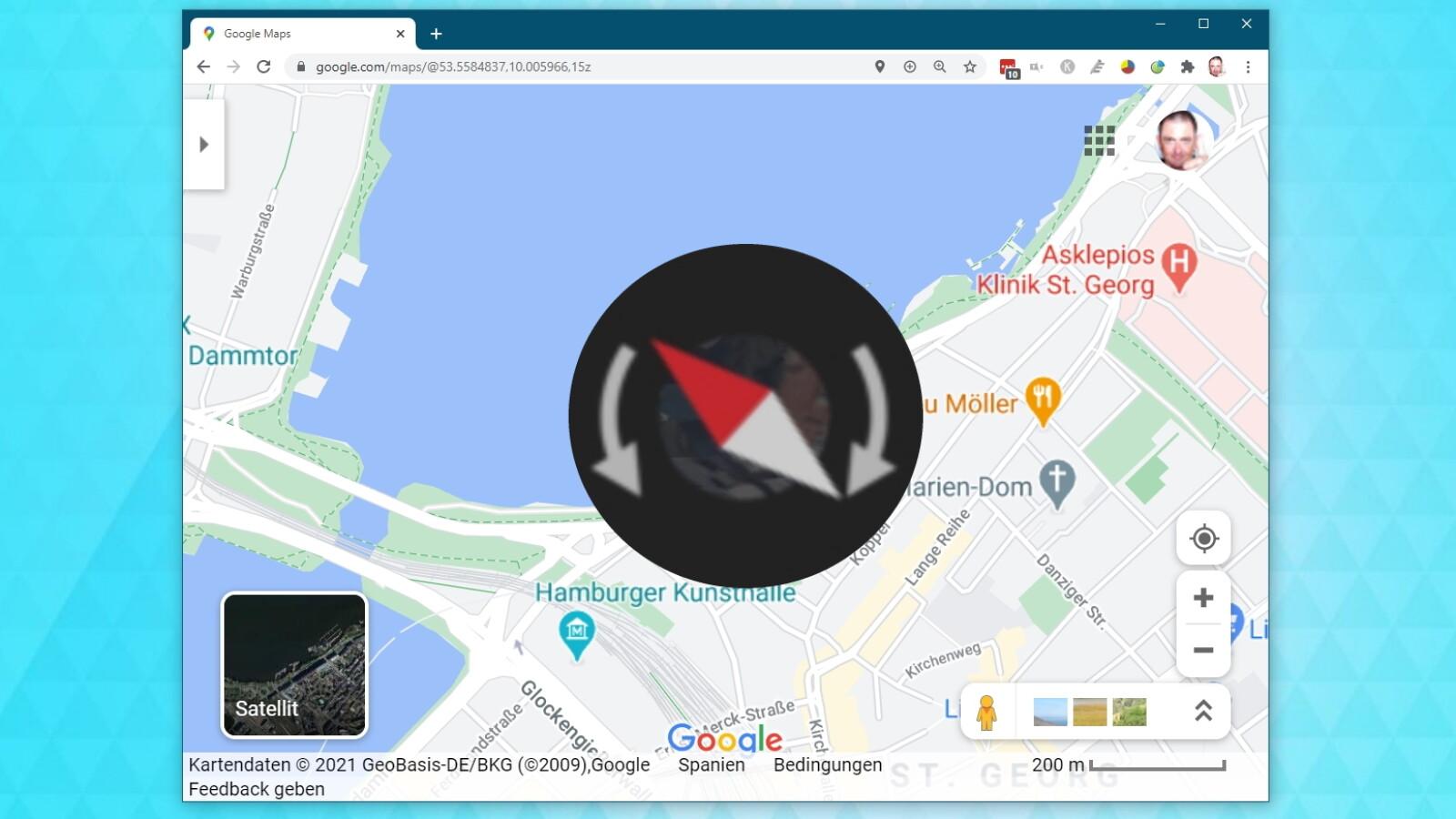 Himmelsrichtung Google Maps