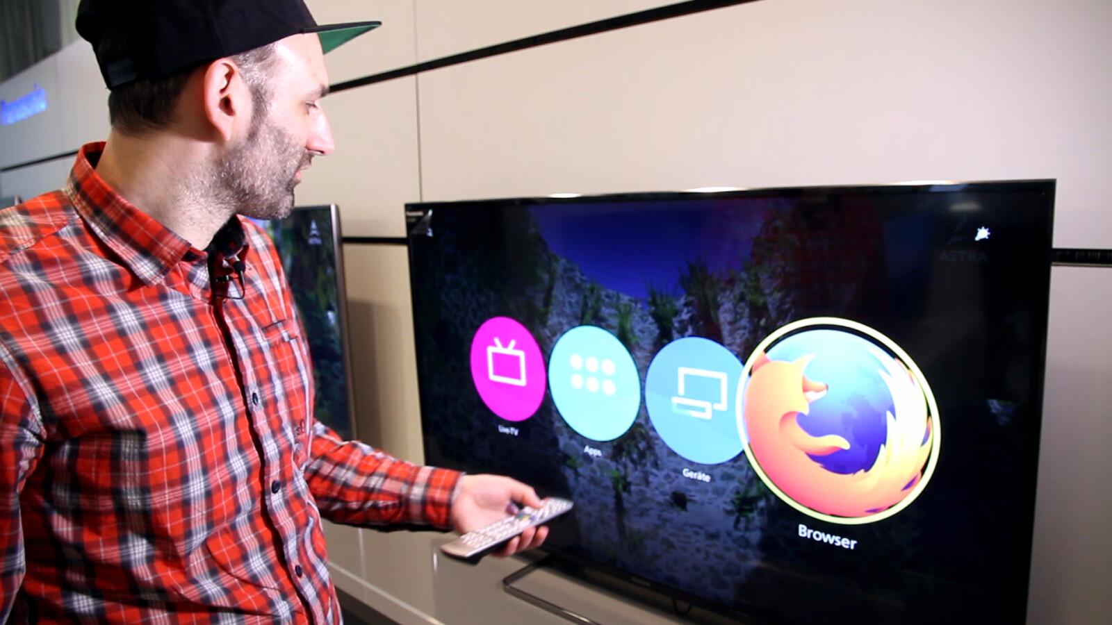 Im Kurztest: Panasonic Firefox OS auf dem Smart-TV
