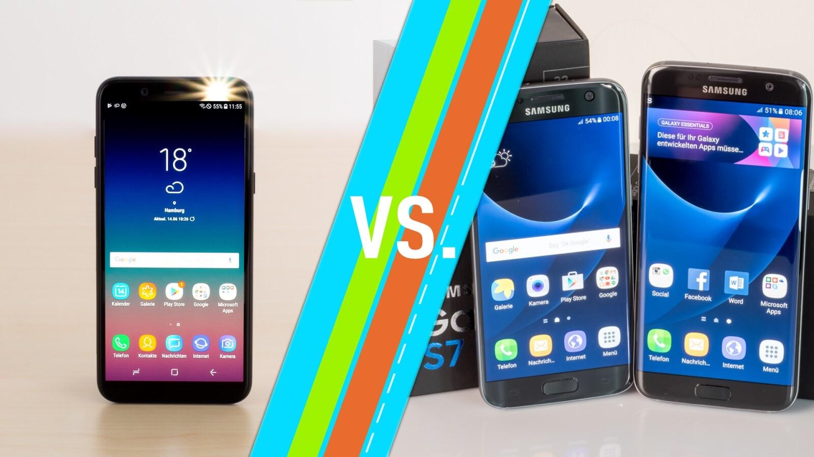 galaxy a6 2018 vs galaxy s7 edge samsung smartphones im vergleich netzwelt. Black Bedroom Furniture Sets. Home Design Ideas