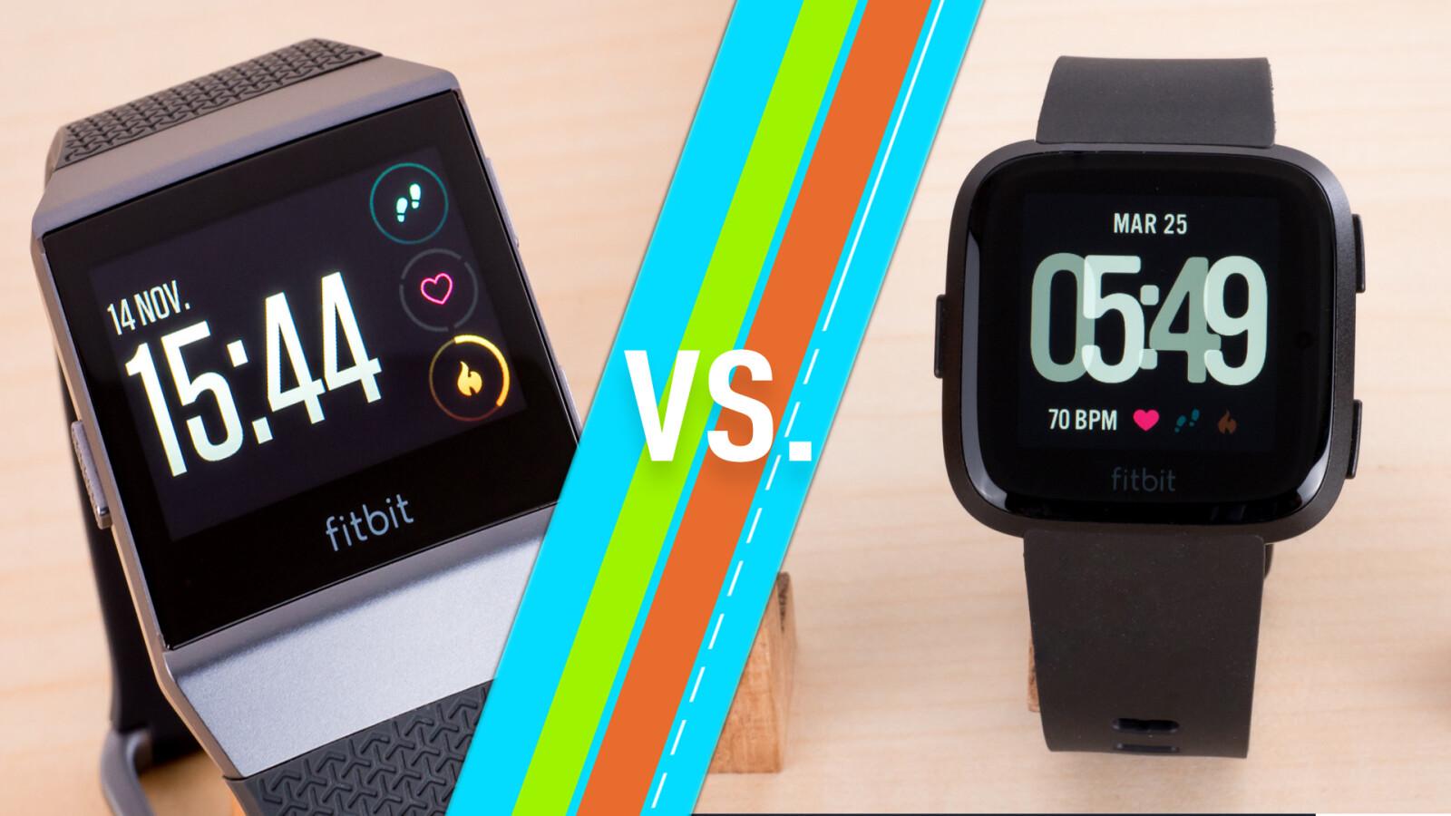 Fitbit Ionic vs  Fitbit Versa: Sport-Smartwatches im