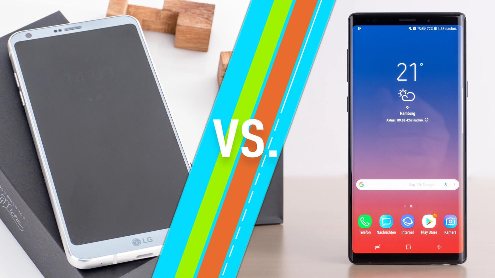 LG G6 vs. Samsung Galaxy Note 9: Smartphones im Vergleich