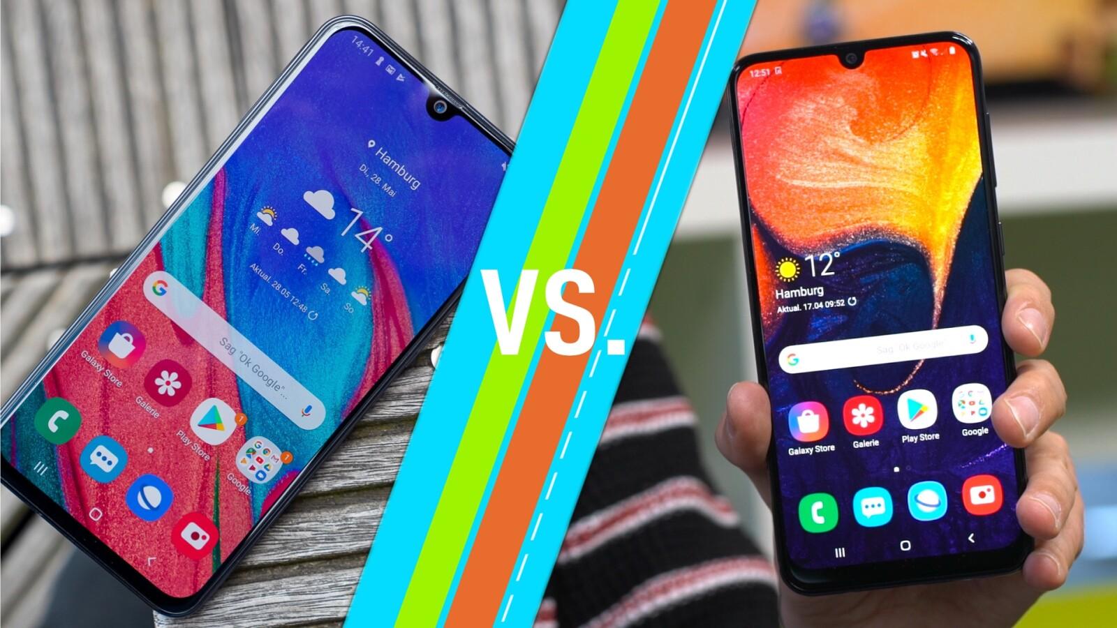 Galaxy A40 vs. Galaxy A50: So unterscheiden sich die Samsung-Handys