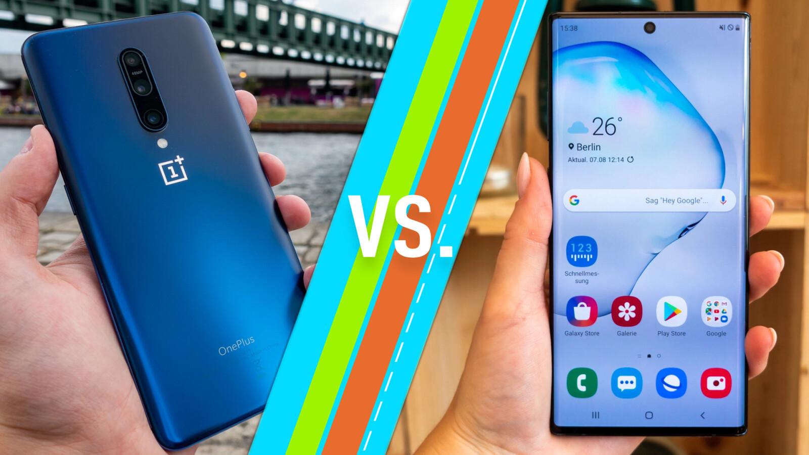 OnePlus 7 Pro & Galaxy Note 10+ im Vergleich: So unterscheiden sie sich