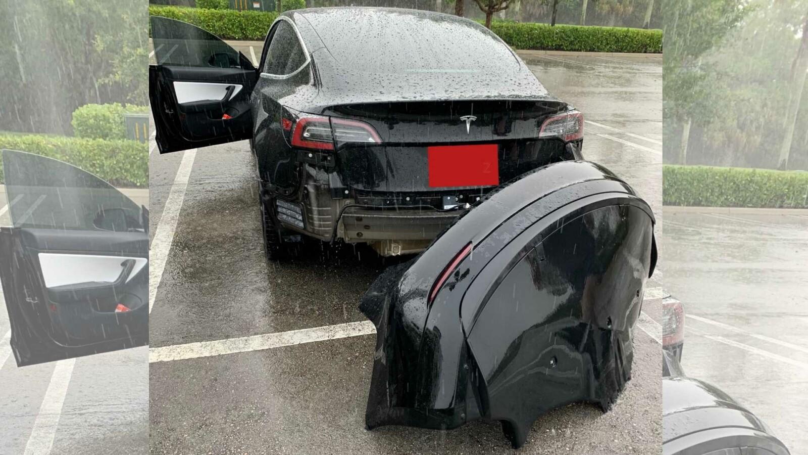 Tesla Model 3 und die Pfütze: Video über verlorene Stoßstange geht viral