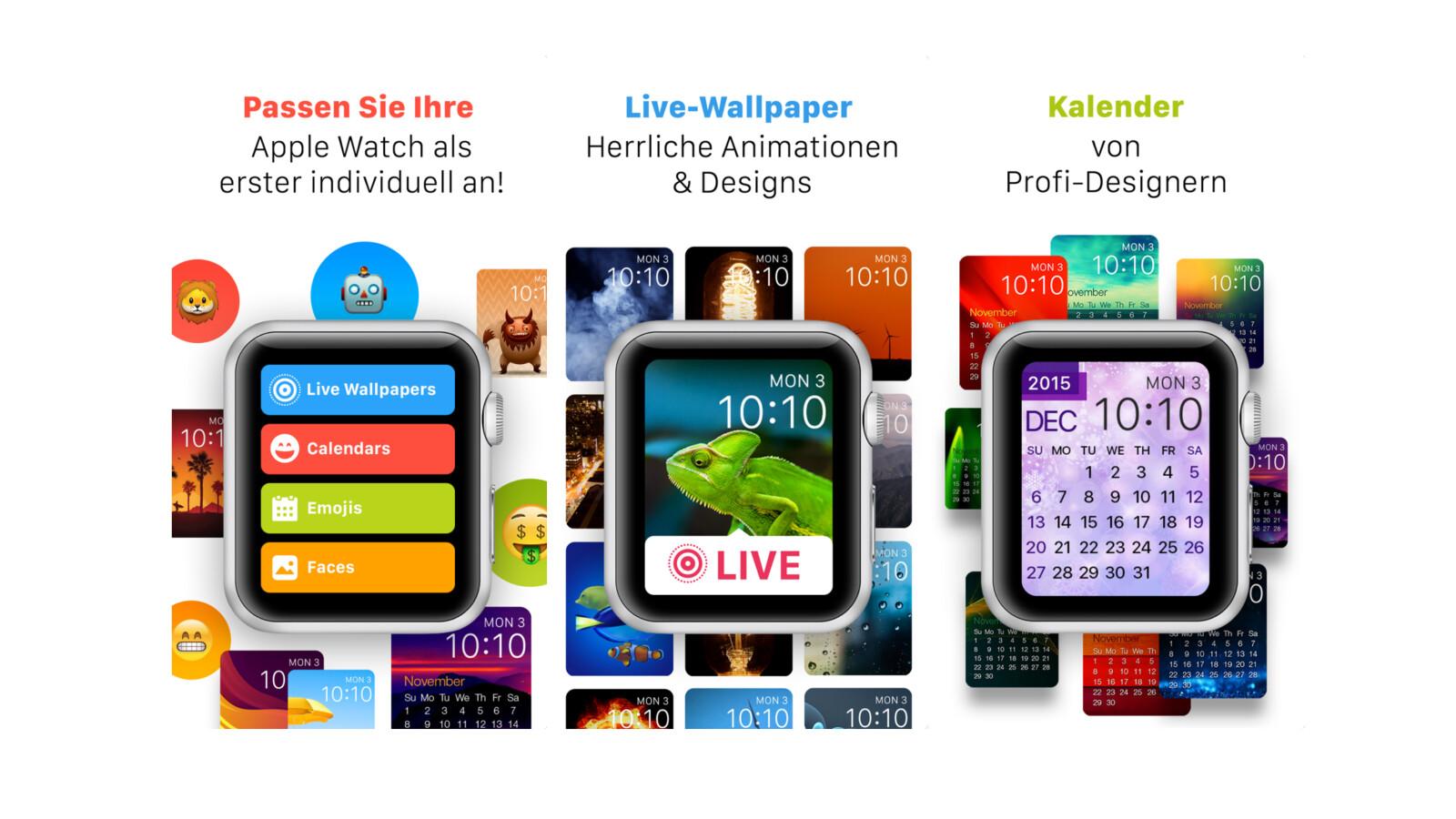 Statt 2,29 Euro heute kostenlos: Wallpaper-App speziell für die Apple Watch