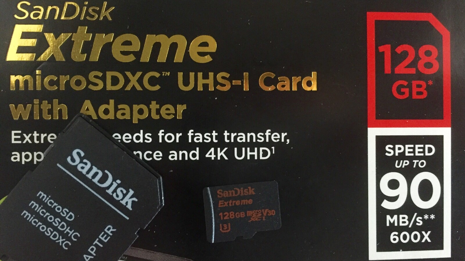 sandisk microsd extreme im test 128 gigabyte. Black Bedroom Furniture Sets. Home Design Ideas