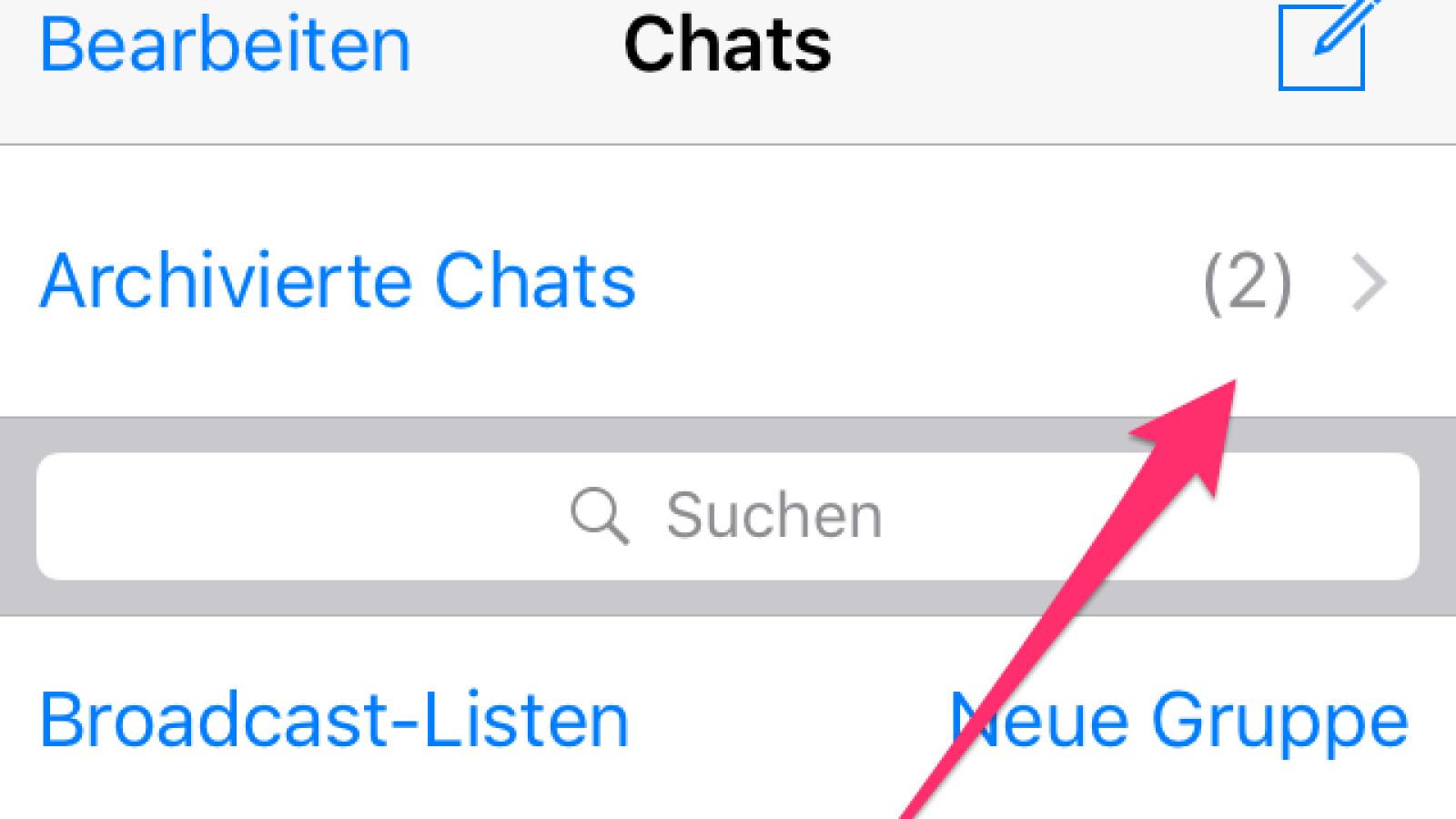 Löschen bei iphone chats whatsapp archivierte WhatsApp: Chats