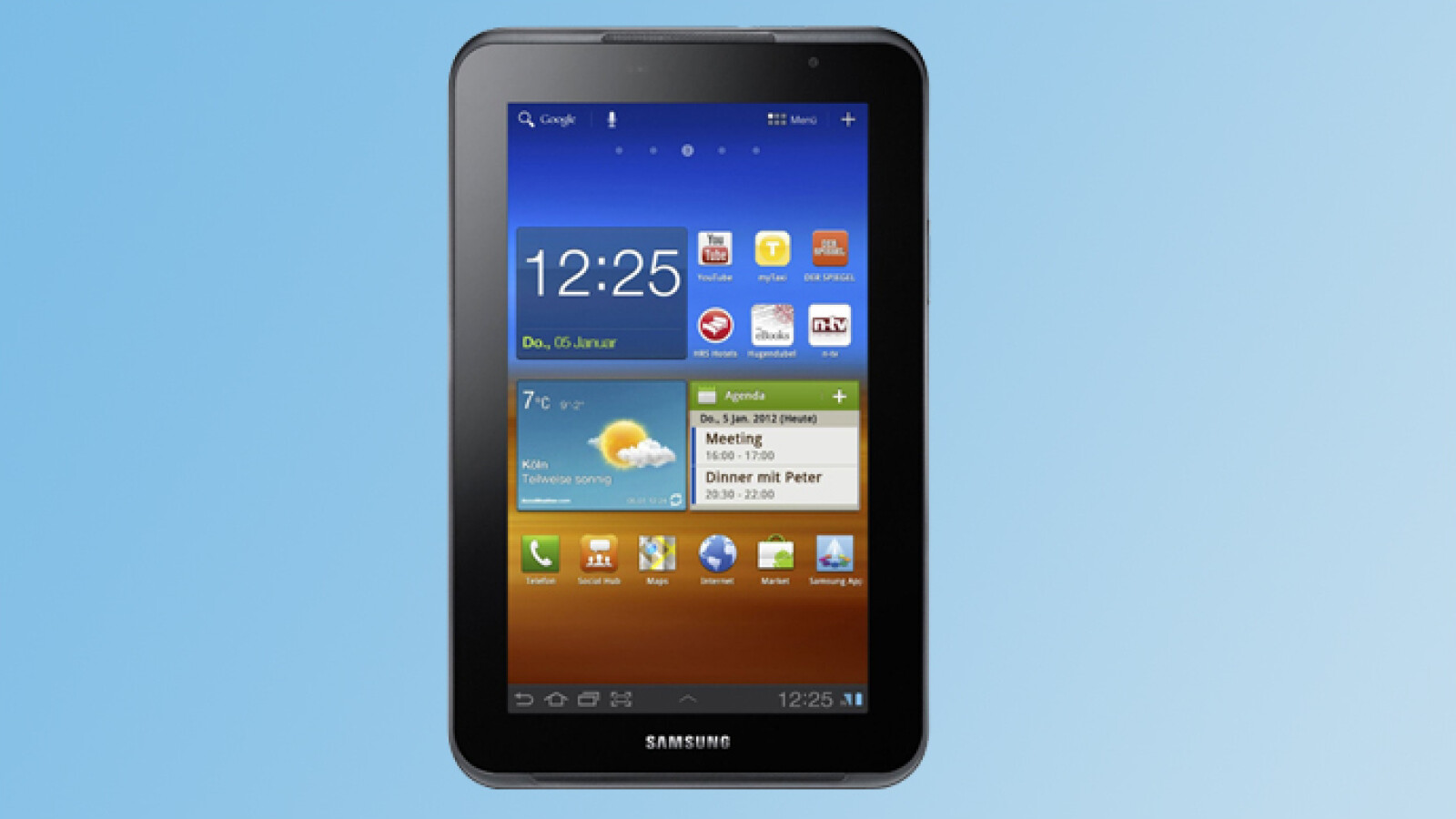 Galaxy Tab 7.0 Plus N in the Practice Test