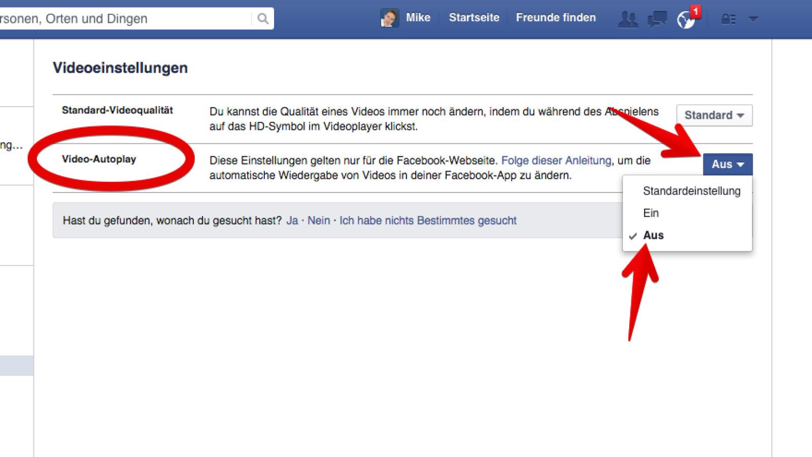 Facebook Browser Deaktivieren