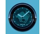 Icon: TAURUS - Neon Blue Clock