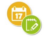 Icon: Calendar and Notes Free