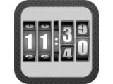 Icon: 3D Rolling Clock BLACK