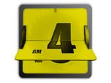 Icon: 3D Animated Flip Clock Yellow