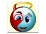 Icon: smiley - angel vs devil