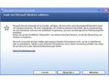 Bild: Um das Programm zu installieren, muss eine registrierte Windowsversion vorliegen.