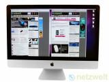 Bild: Wahre Größe: Die Bildschirmdiagonale von 27 Zoll bietet genügend Platz für Dokumente, Fotos oder Filme. Bei Bedarf zeigt der iMac auch alles gleichzeitig an.