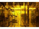 Bild: Chipfertigung im Reinraum für AMD in Dresden.